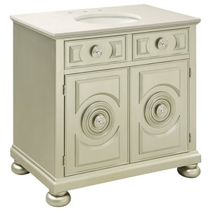 Coast to Coast Imports Coast to Coast Accents Two Door Vanity Sink