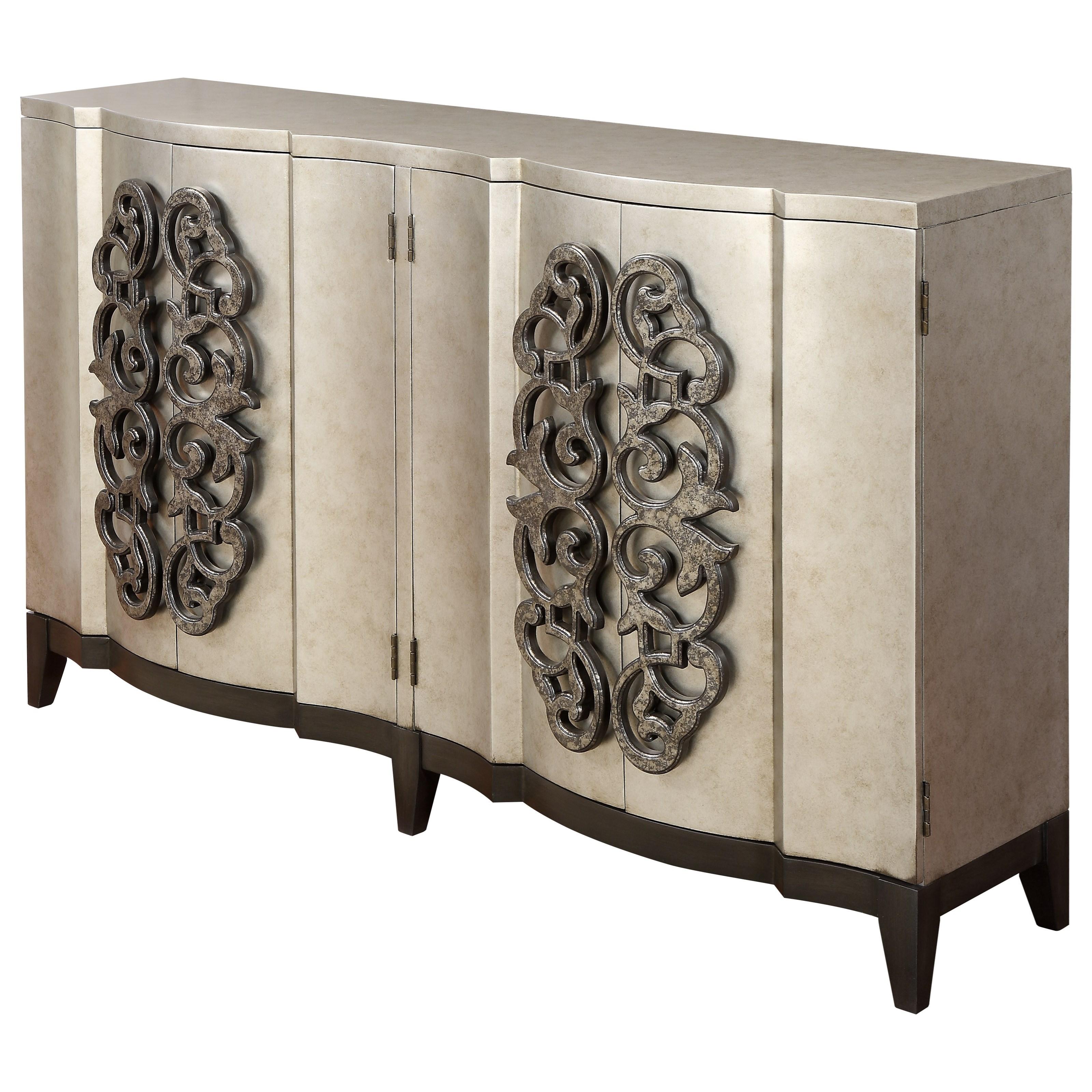 Four Door Bar Cabinet