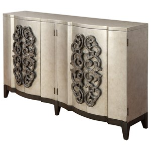 Four Door Bar Cabinet