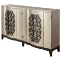 Coast to Coast Imports Coast to Coast Accents Four Door Bar Cabinet - Item Number: 91815
