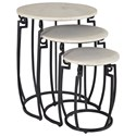 Coast to Coast Imports Coast to Coast Accents Set Of Three Nesting Tables - Item Number: 93411