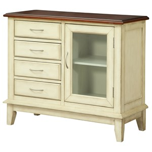 Coast to Coast Imports Coast to Coast Accents Four Drawer One Door Cabinet