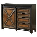 Coast to Coast Imports Coast to Coast Accents Four Drawer One Sliding Door Media Cabinet - Item Number: 96567