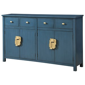 Coast to Coast Imports Coast to Coast Accents Four Drawer Four Door Media Credenza