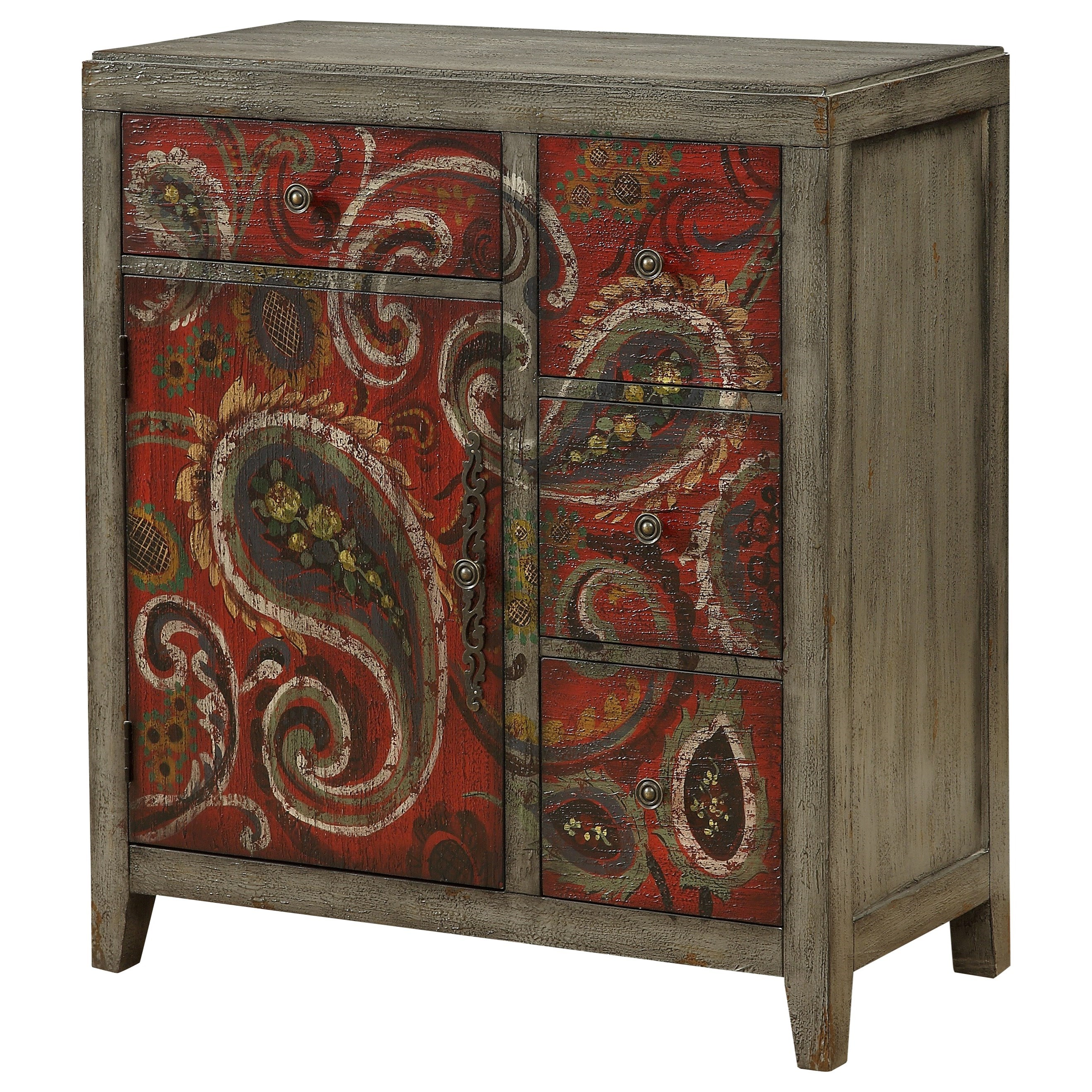 Ruby-Gordon Accents Ruby-Gordon Accents Four Drawer One Door Cabinet - Item Number: 96584
