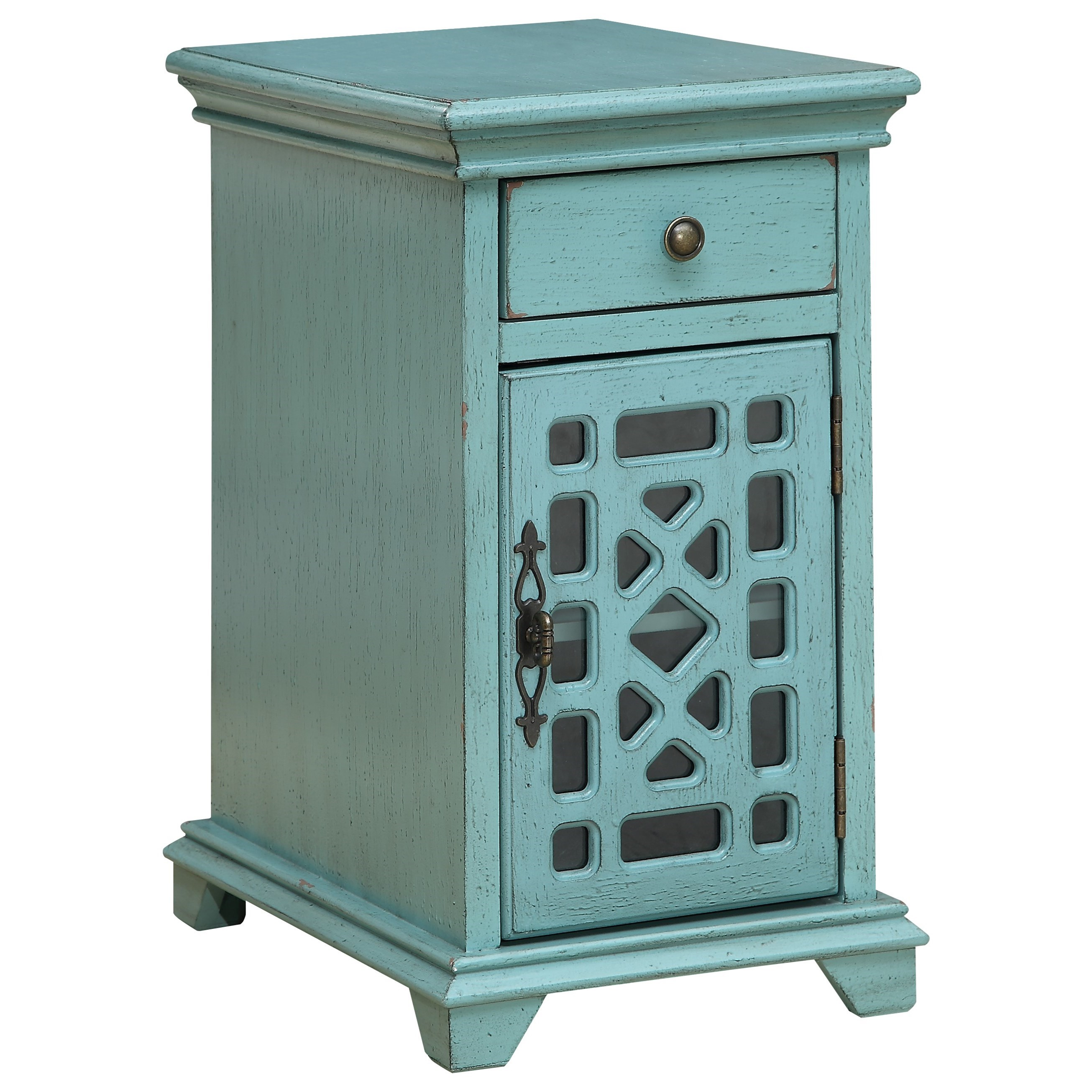 One Drawer One Door Chairside Cabinet