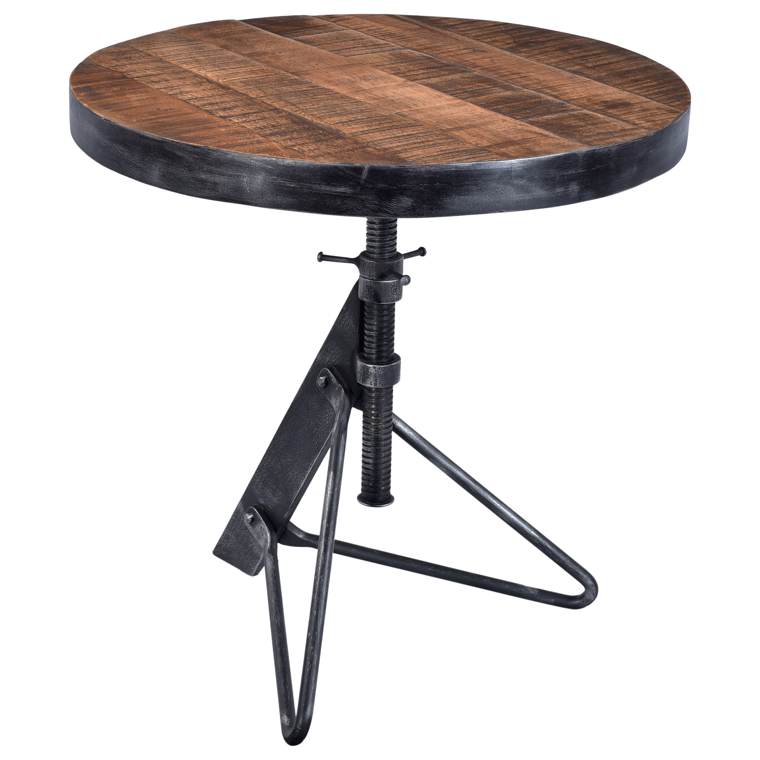 Adjustable Round Accent Table