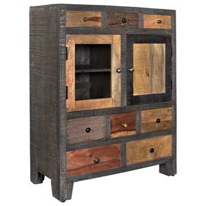 Coast to Coast Imports Coast to Coast Accents Eight Drawer Two Door Cabinet