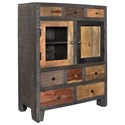 Coast to Coast Imports Coast to Coast Accents Eight Drawer Two Door Cabinet - Item Number: 98227
