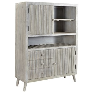 Coast to Coast Imports Coast to Coast Accents Three Drawer Two Door Wine Cabinet