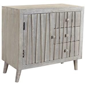 Coast to Coast Imports Coast to Coast Accents Three Drawer One Door Cabinet