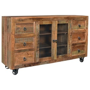 Six Drawer Two Door Credenza