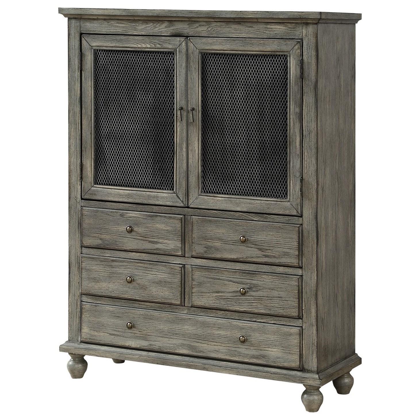 Two Door Five Drawer Cabinet