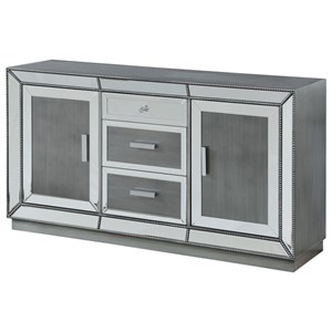 Two Door Three Drawer Media Credenza