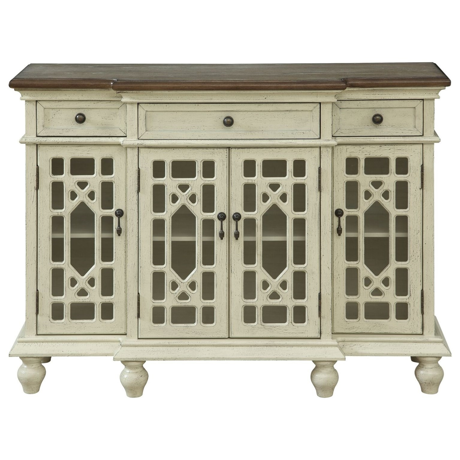 3-Drawer, 3-Door Media Credenza