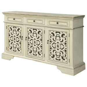 Coast to Coast Imports Coast to Coast Accents Three Door Three Drawer Media Credenza
