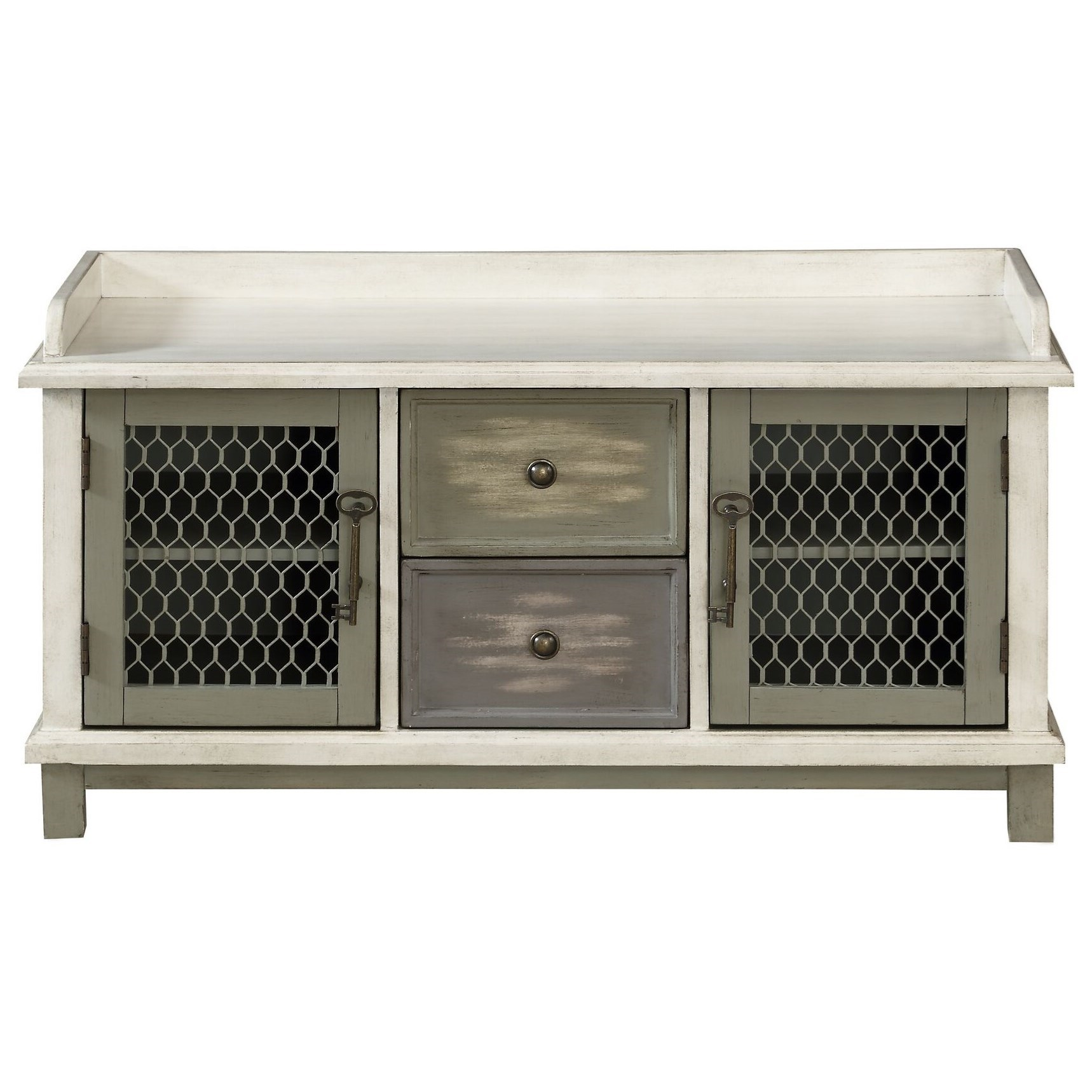 Two Door Two Drawer Bench