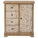 Coast to Coast Imports Coast to Coast Accents One Door Four Drawer Cabinet - Item Number: 36516