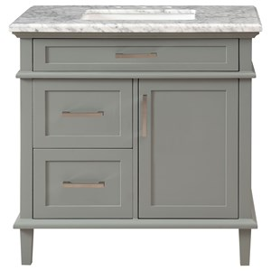 One Door Three Drawer Vanity Sink