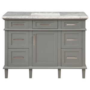1-Door, 5-Drawer Vanity Sink