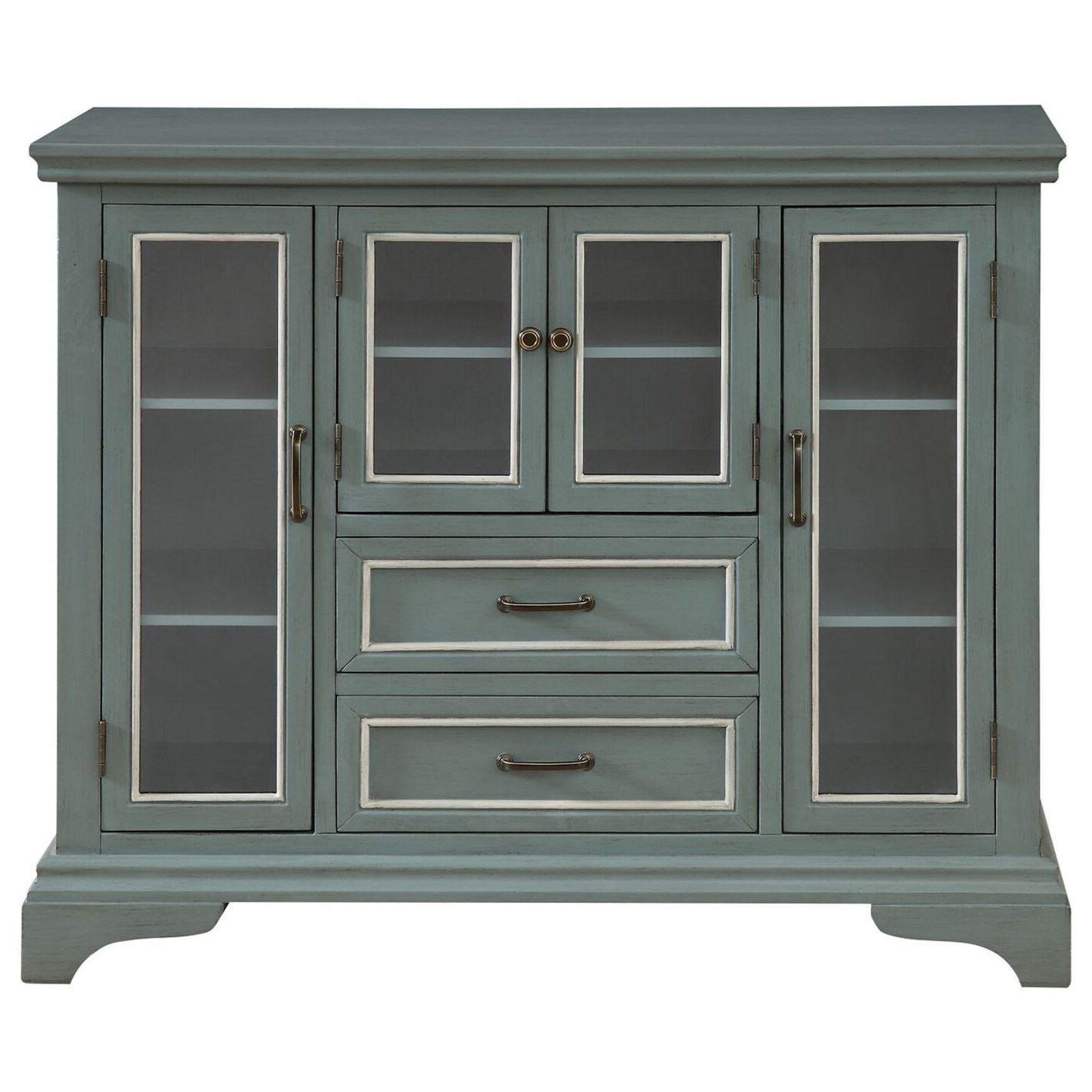 Four Door Two Drawer Cabinet