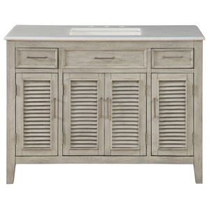 Four Door Two Drawer Vanity Sink