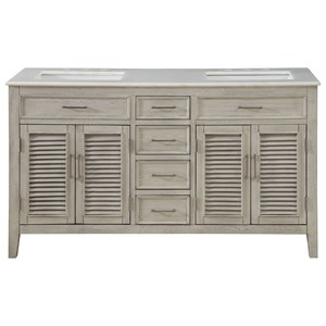 Four Door Four Drawer Double Vanity Sink