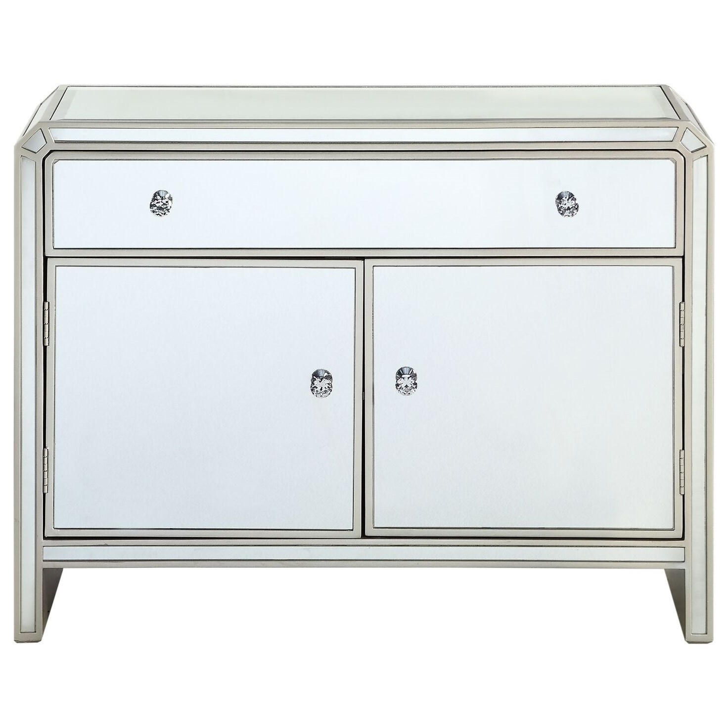 Two Door One Drawer Cabinet