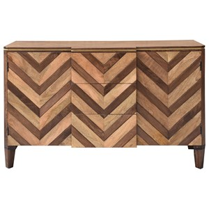 Two Door Three Drawer Credenza