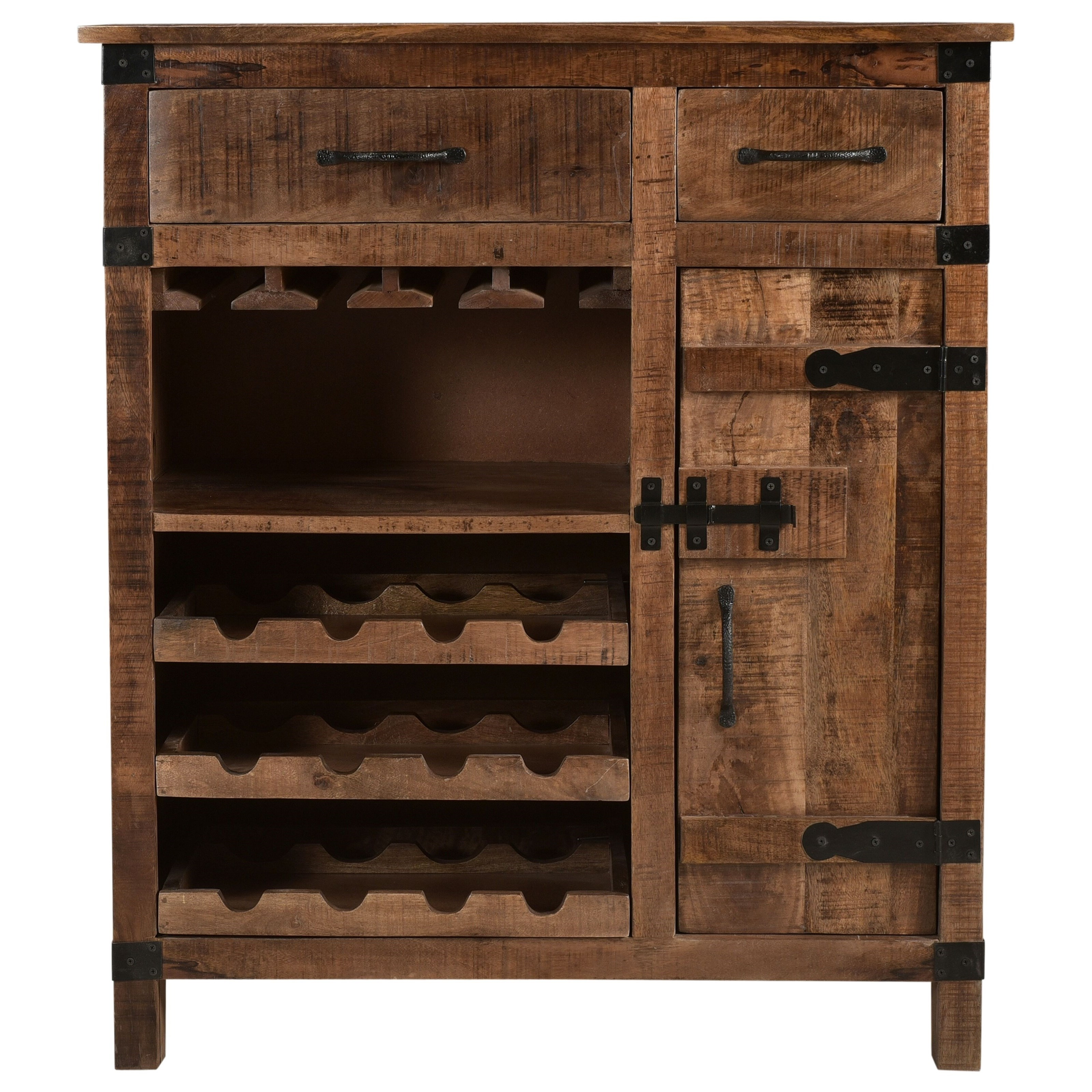 C2C Accents One Door Two Drawer Wine Cabinet by C2C at Walker's Furniture