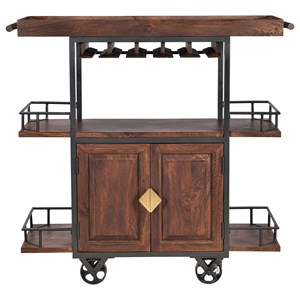 Industrial 2-Door Wine Trolley