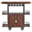 Coast to Coast Imports Coast to Coast Accents Two Door Wine Trolley - Item Number: 44624