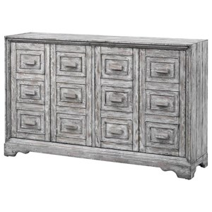 Four Door Media Credenza