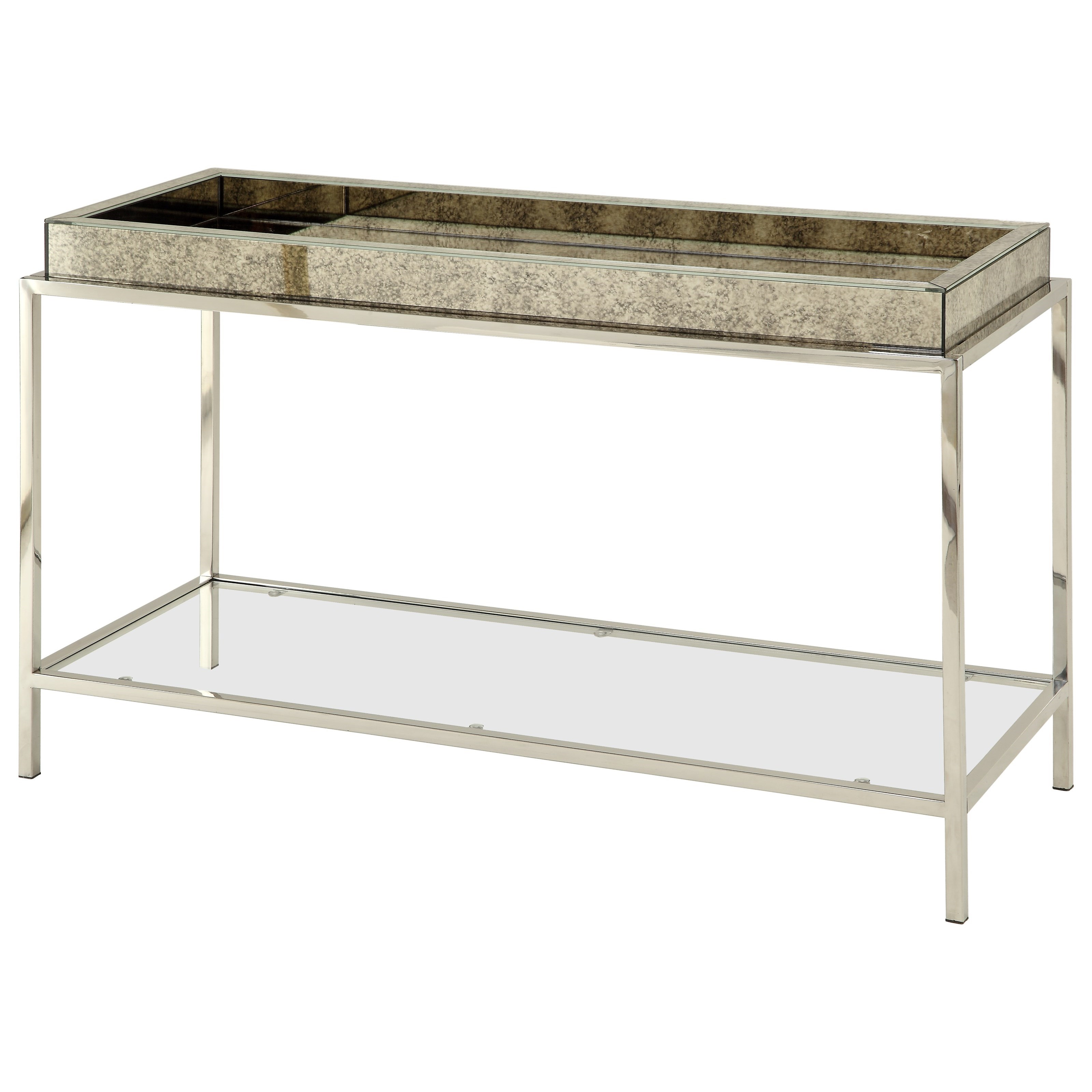 Coast to Coast Imports Coast to Coast Accents Tray Top Console With Glass Shelf - Item Number: 78640