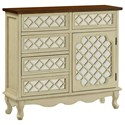 Coast to Coast Imports Coast to Coast Accents Five Drawer One Door Chest - Item Number: 78670