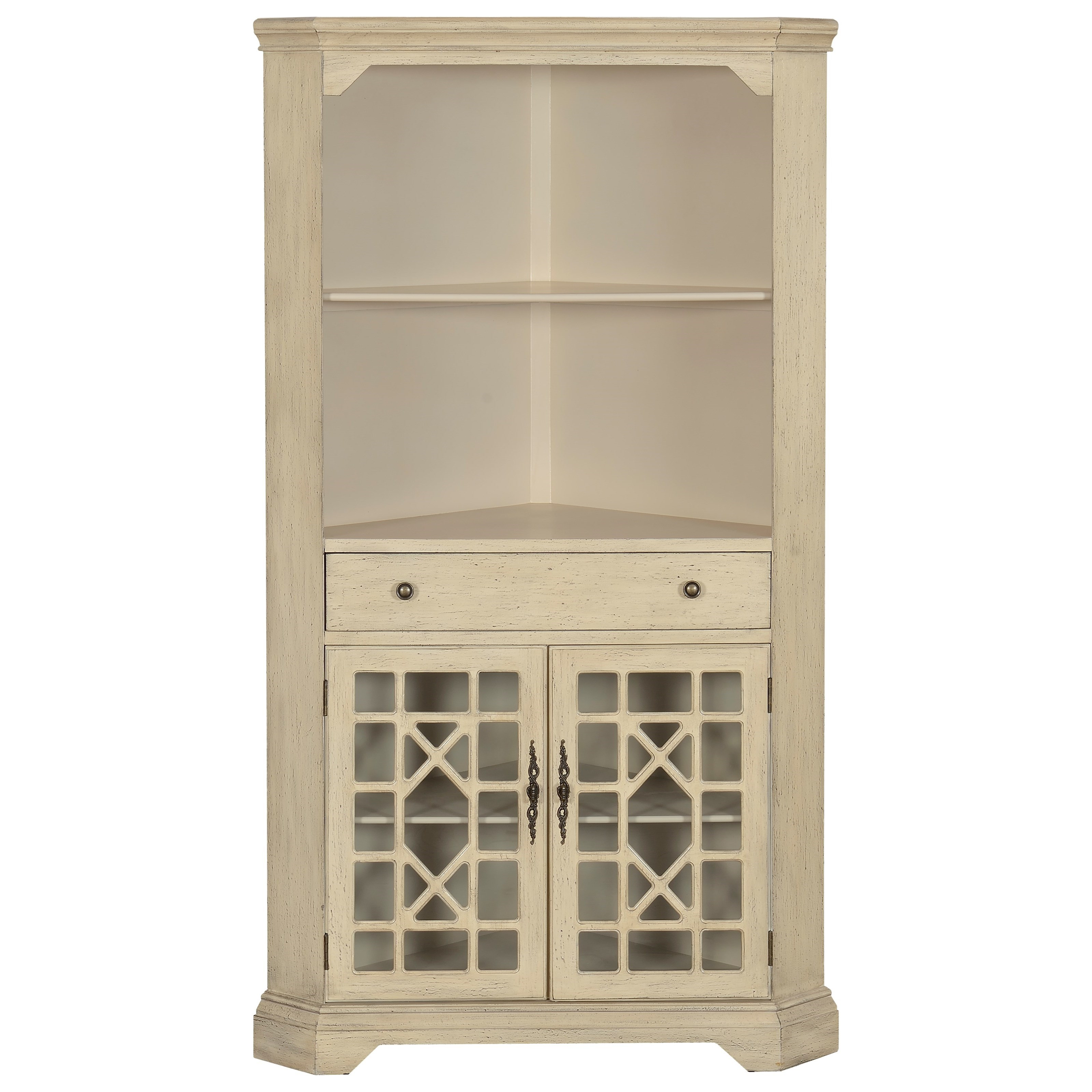 Coast to Coast Imports Coast to Coast Accents One Drawer Two Door Corner Bookcase - Item Number: 78700