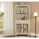 Coast to Coast Imports Coast to Coast Accents One Drawer Two Door Corner Bookcase