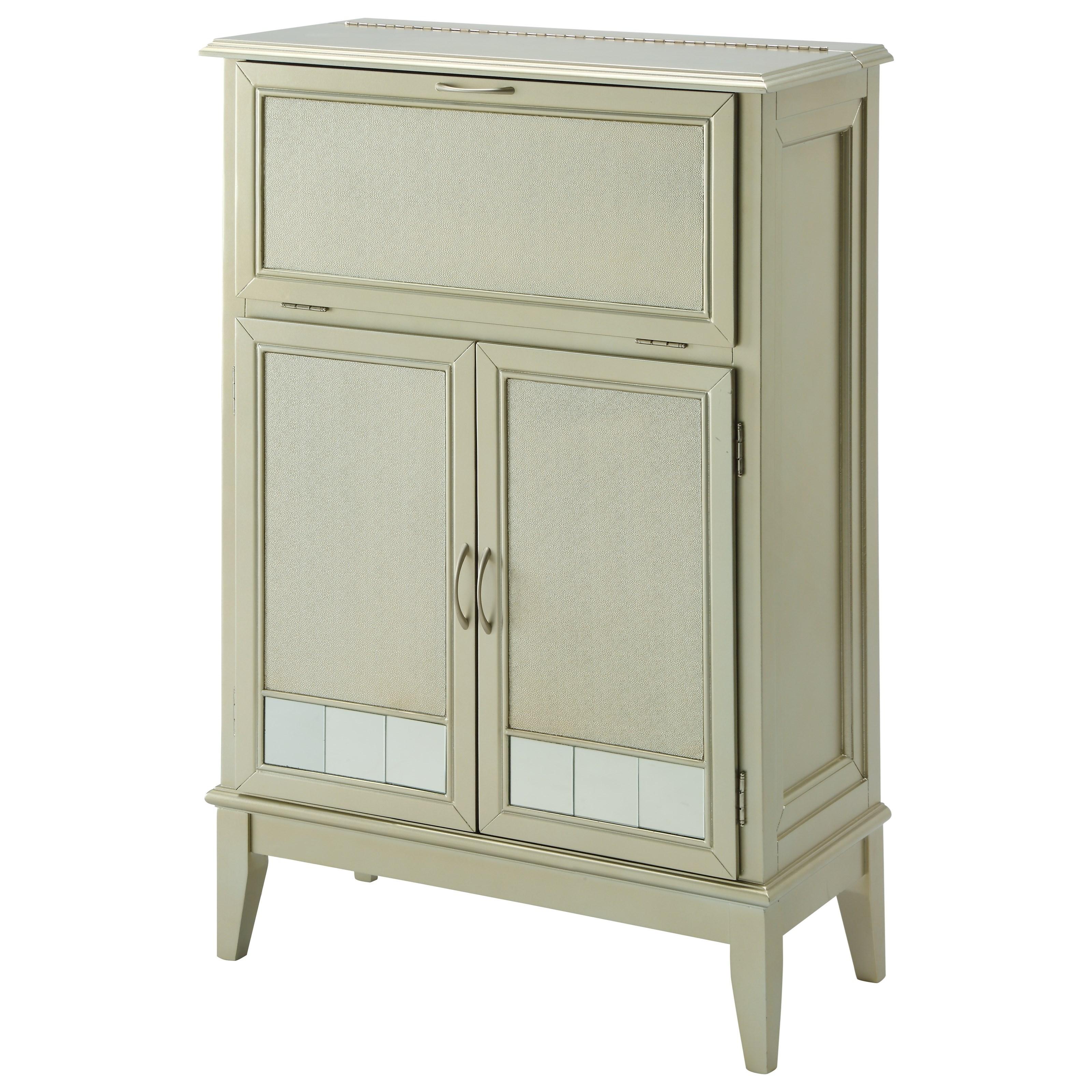 Coast to Coast Imports Coast to Coast Accents Two Door Drop Lid Bar Cabinet - Item Number: 91705