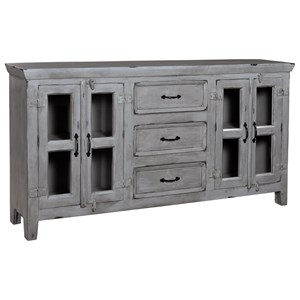 Coast to Coast Imports Coast to Coast Accents Four Door Three Drawer Credenza