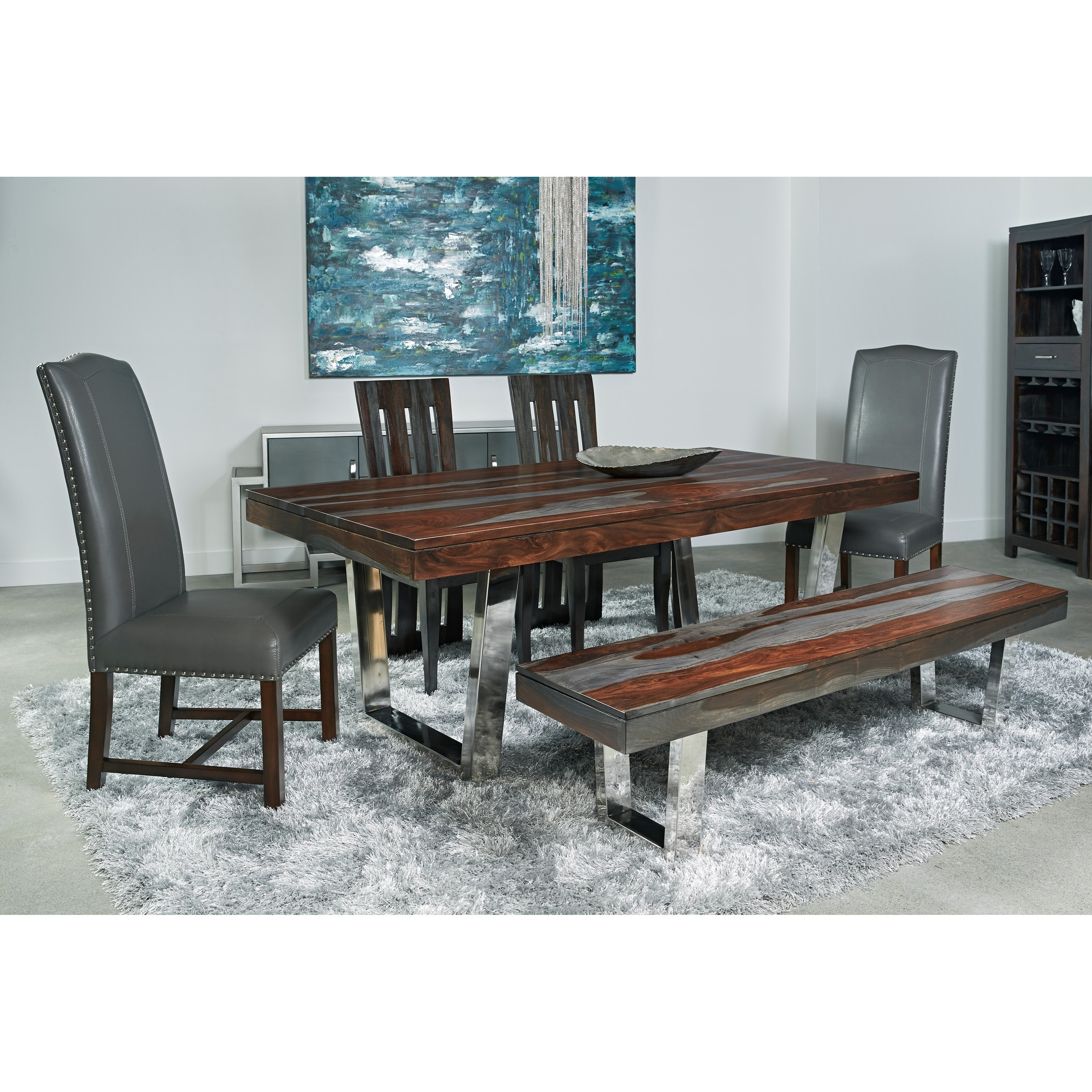 Coast to Coast Imports Cosmopolitan Table & Chair Set - Item Number: 9345 Dining Room Group 2