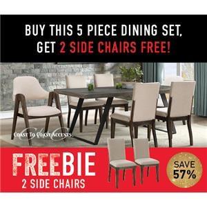 Denver 5-Piece Dining Set with Freebie!