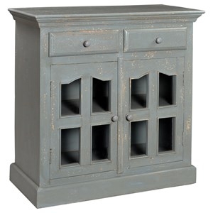 Coast to Coast Imports Hamptons Two Door Two Drawer Cabinet