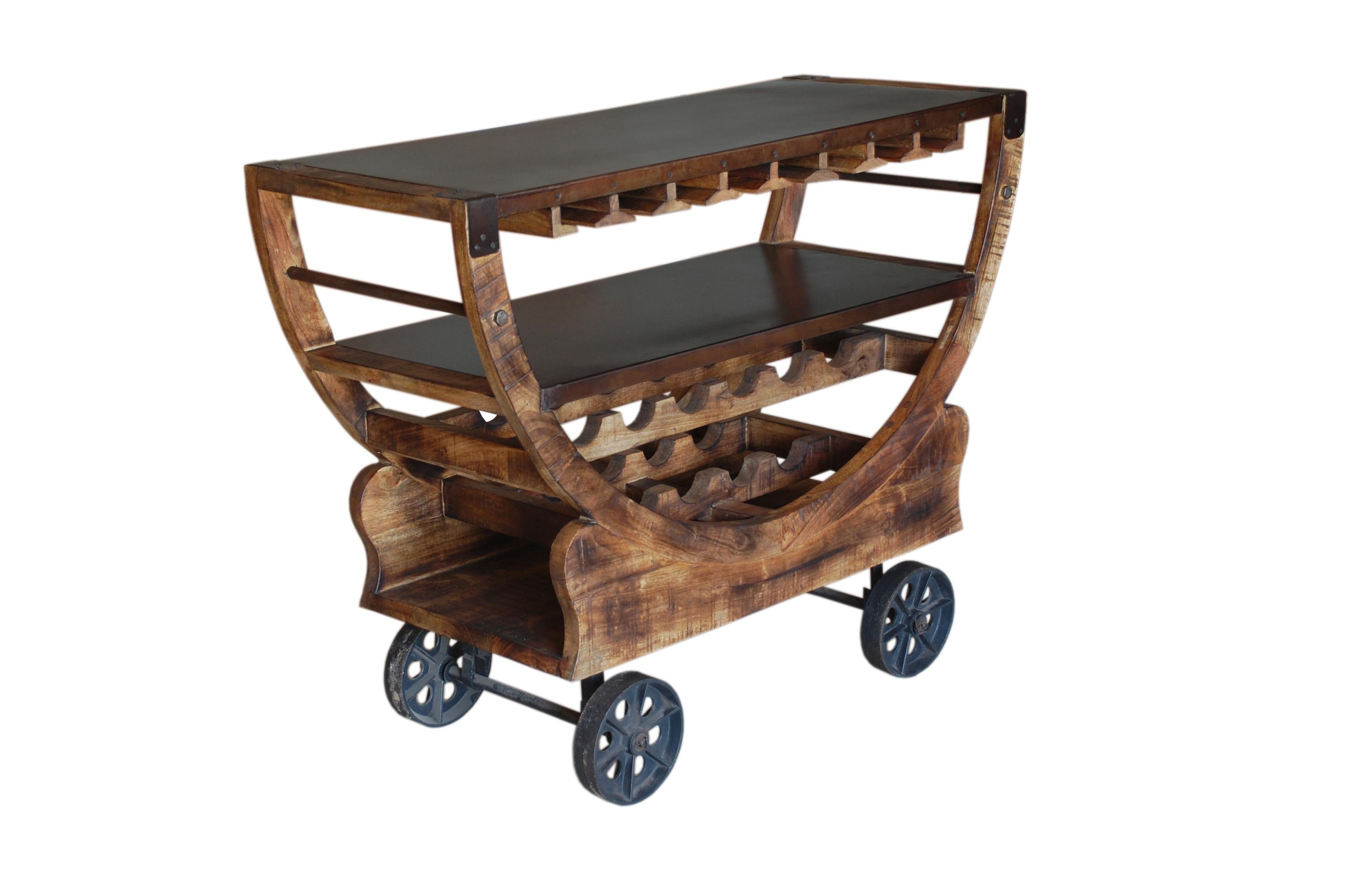Coast to Coast Imports Jadu Accents Bar Trolley - Item Number: 59461