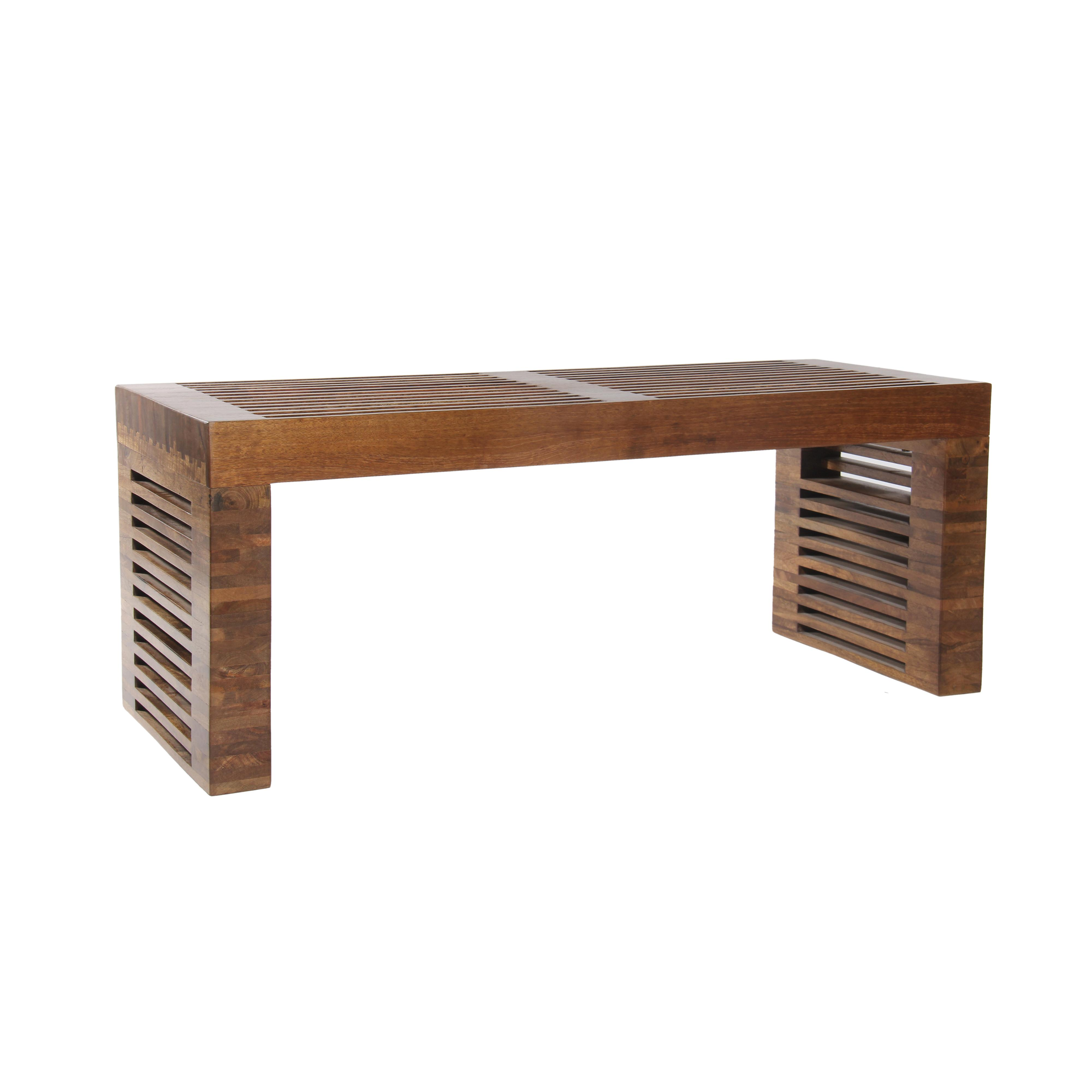 Coast to Coast Imports Jadu Accents Wooden Bench - Item Number: 63123