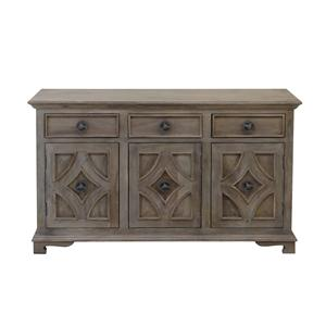 Coast to Coast Imports Jadu Accents Three Drawer Three Door Sideboard