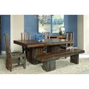 Coast to Coast Imports Grayson Wooden Dining Bench