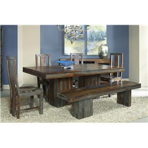 Coast to Coast Imports Zamora Zamora Table + 4 Chairs + Bench