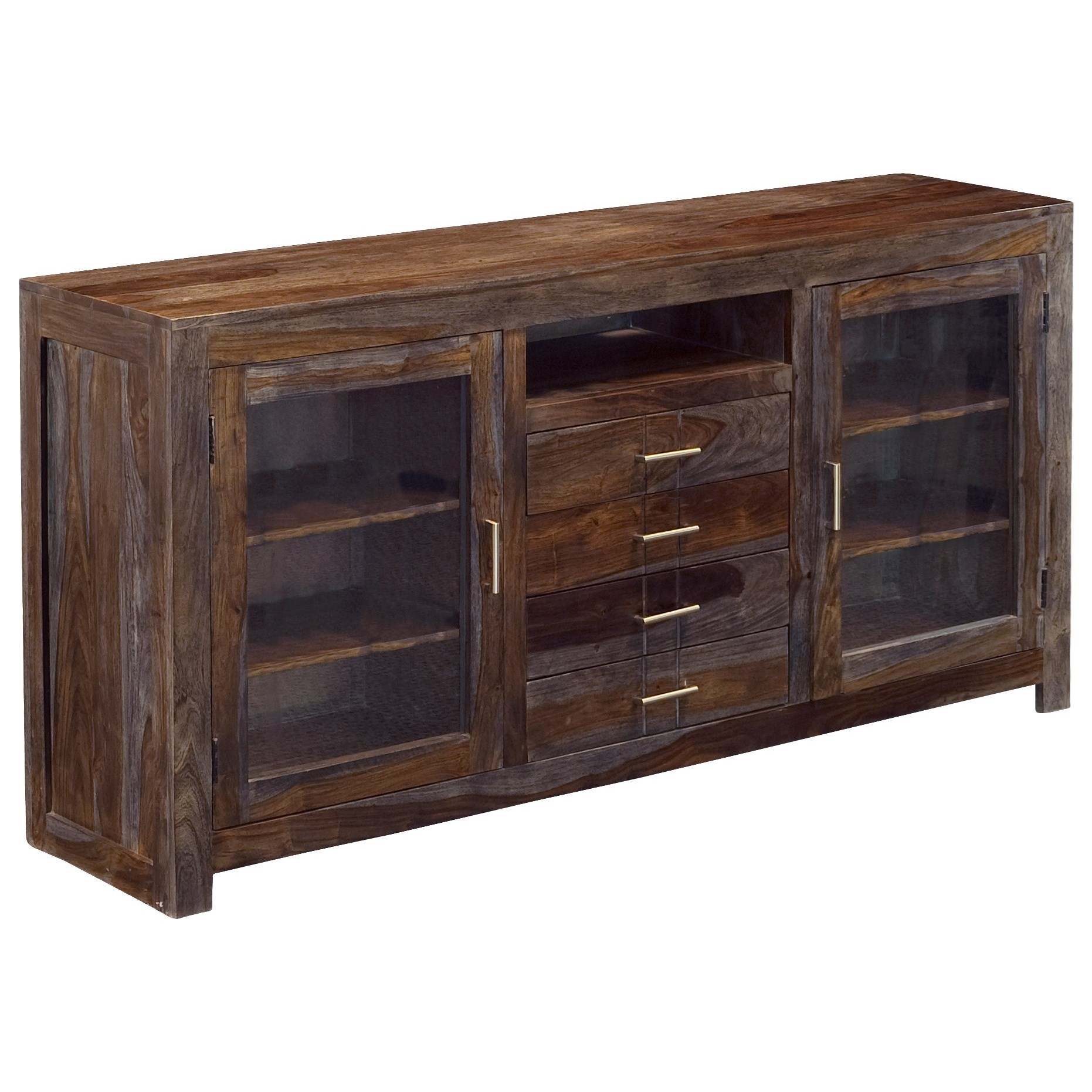 Coast to Coast Imports Grayson Four Drawer Two Door Media Console - Item Number: 68246
