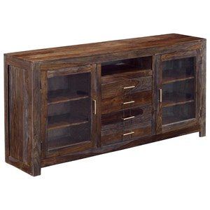 Coast to Coast Imports Jadu Accents Four Drawer Two Door Media Console