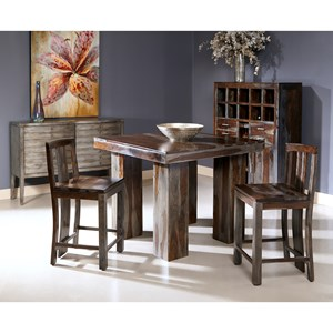 Coast to Coast Imports Jadu Accents Zamora Counter Table + 4 Stools